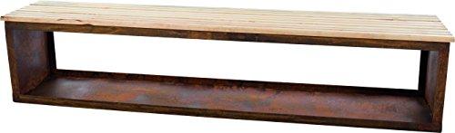 RedFire Bois Banc de Rangement TYR 120 cm 88514, Rouille, 122 x 42 x 42 cm