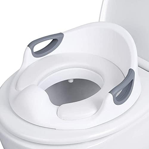 Reductor de WC para Niños, Asiento para niños, Adaptador de Inodoro, Ergonómico, Seguro, Cómodo con Función Antideslizante(Blanco)