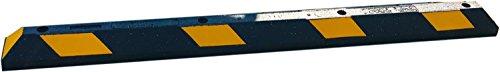 UvV ParkIT18.008 Park-It® Anfahrschutz Radstopp 1800 mm schwarz, gelbe Reflektoren - Extra breite Einzel Gummi Einparkhilfe Garage / Carport. Parkplatzbegrenzer 100% Recycling Gummi Parkbuchtabgrenzung. Original Park-It Qualität aus Amerika