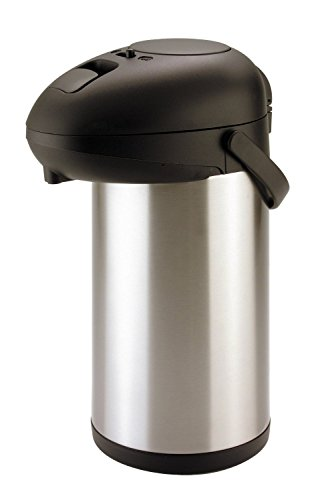 5L 5000ml Air-Pot Flask Hot Cold Stainless Steel Pump Action Vacuum Flask Tea Coffee Drinks (Set of 1 Airpot)