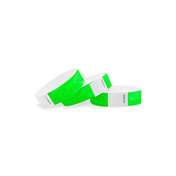 WristCo 3/4″ Tyvek Wristbands – 500 Pack Paper Wristbands For Events