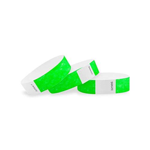 Wristco neon verde 3/10,2cm Tyvek Wristbands 1000 Count Neon Green