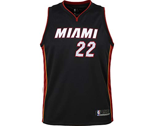 NBA Infants Toddler Official Name and Number Replica Home Alternate Road Player Jersey (24 Months, Jimmy Butler Miami Heat Black icon Edition)