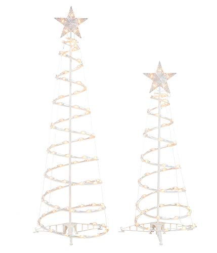 Holiday Time 2pk Light Up Clear Spiral Trees by Holiday Time