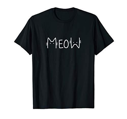 Meow Katzen T-shirt Miau süßes Katzenmotiv