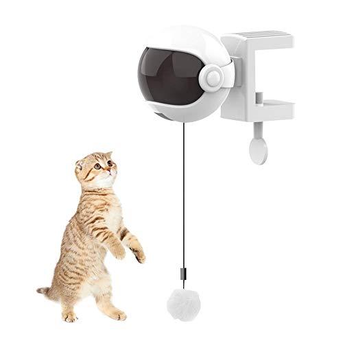 Gorgeousy Elektrische lustige Katze Ball, automatische Jo-Jo Hebe Federstange Spielzeug, interaktive LED-Licht Ball Puzzle Katzenspielzeug, batteriebetrieben | Stark und robust