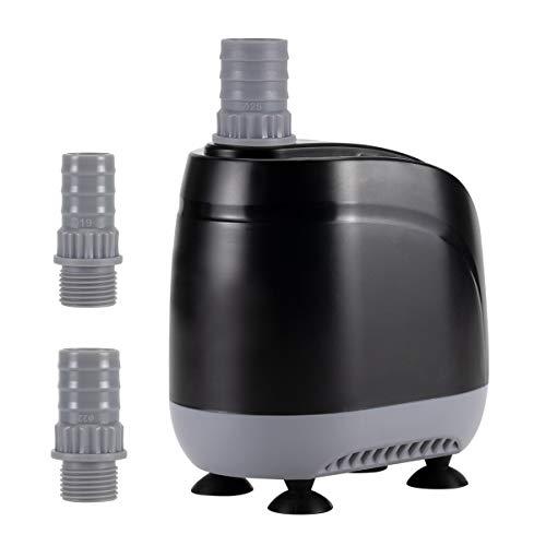 hygger Aquarium Water Pump, Protezione Anti-ustione Anti-Asciutto 360 ° a Tutto Tondo 0.79in Livello dell'Acqua Ultra-Basso IPX8 Impermeabile per Acquario, Stagno, Coltura Idroponica (2500L/H, 35.5W)