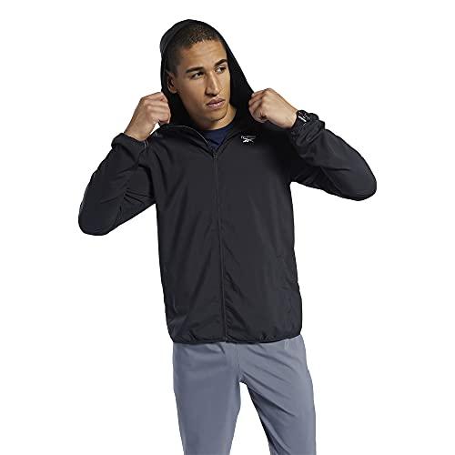 Reebok Herren Trainingsjacke Essentials Woven Jacket Jacket, Herren, Jacke, IEH27, Schwarz , M