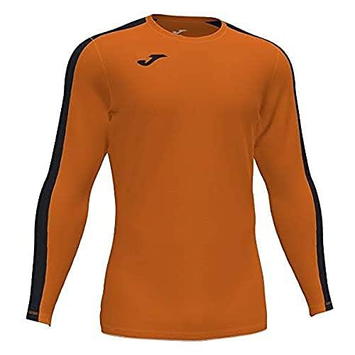 Joma Academy Camiseta Juego Manga Larga, Hombre, Naranja-Negro, S