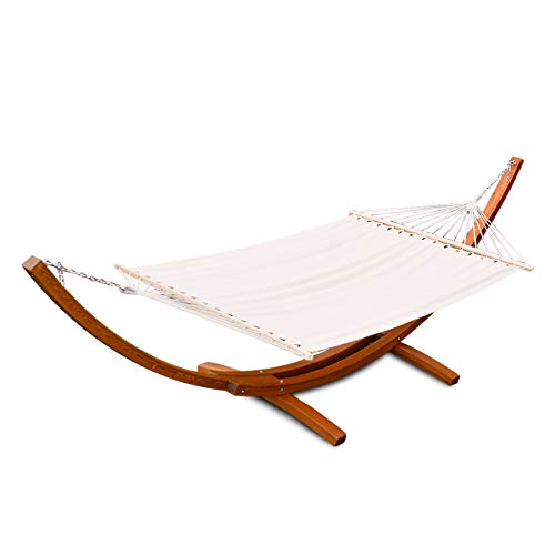 Giantex 12Ft Hammock Stand Chair with Cozy Cotton Fabric,...