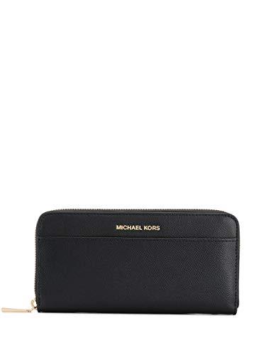 Luxury Fashion | Michael Kors Dames 34F9GTVZ3L001 Zwart Leer Portemonnees | Lente-zomer 20