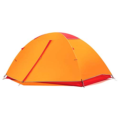 HUIYAN Camping Tents, Automatic Pop-up Camping Tents | 2-3 Bunk Outdoor Waterproof Windproof Lightweight Dome Tent | 3 Colors (Color : Orange)
