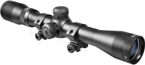 BARSKA 4x32 Plinker-22 Riflescope w/ 3/8-Inch Dovetail Rings