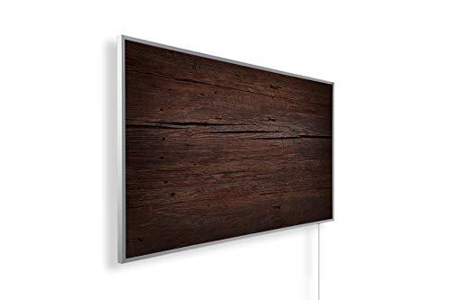 Bildheizung Infrarotheizung mit Digitalthermostat - 5 Jahre Herstellergarantie - - Heizt nach dem Prinzip der Sonne(Holzoptik,1000)