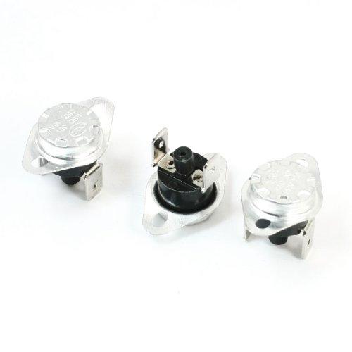 Sourcingmap - 3 x 125c termostato de rearme manual normalmente cerrado del interruptor de temperatura 10a 250v