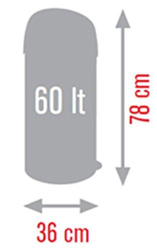 Meliconi Pattumiera Apertura a Pressione Soft-Touch Lt. 60, lamiera litografata Colore Nero e Coperchio in plastica Nero, Made in Italy