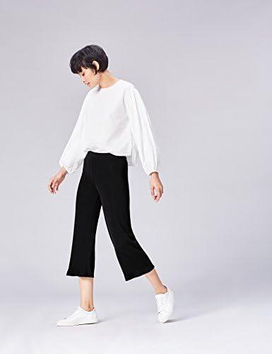 Marca Amazon - find. Pantalón Fluido de Pierna Ancha para Mujer