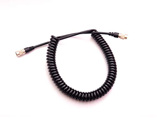 Power Cable 4pin Male to Male Coiled Cable for Trimble 5600 3600 Series Total Stations