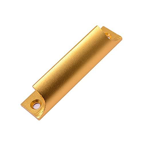 Pantalla Manija de puerta de aluminio Ventana de madera maciza Puerta corrediza Puerta corrediza Manija de puerta de gabinete Manija de vidrio de metal de alta resistencia-oro