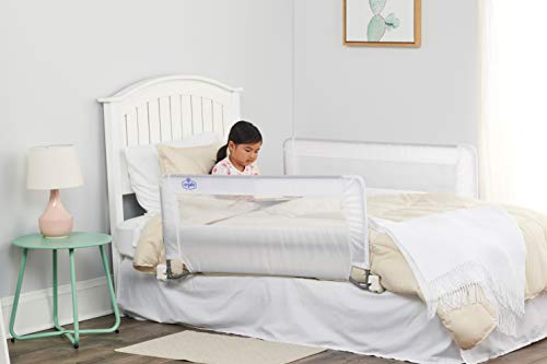 Product Image of the Regalo Swing Down Double Sided Bed Rail Guard, with Reinforced Anchor Safety...