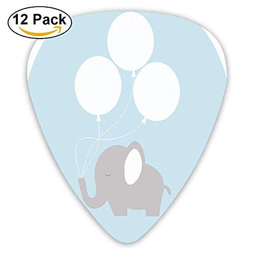 Kleiner Baby-Elefant mit großen Luftballons Happy Funny Icon Guitar Picks
