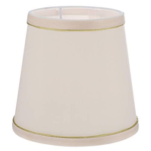 FRCOLOR Lámpara de Tela Cubierta de Lámpara Pequeña de Barril de Repuesto Accesorio de Lámpara Moderna para Lámpara de Mesa Lámpara de Araña Lámpara de Pared (Color Crema)