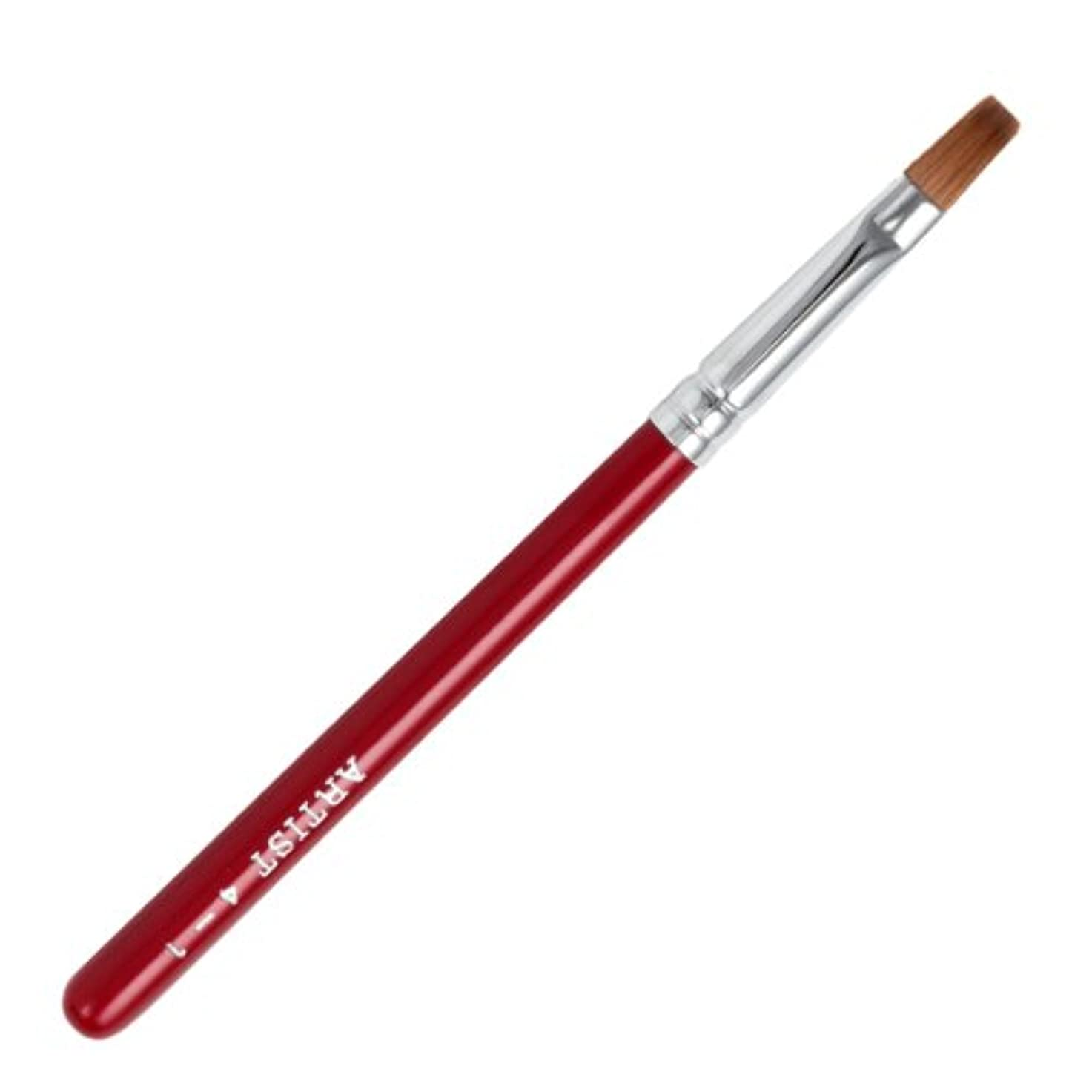真鍮独立してお気に入り広島熊野筆 平型リップブラシ 毛質 セーブル