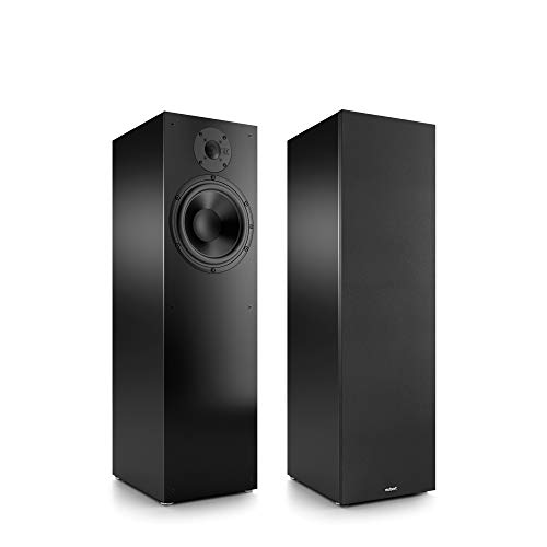 Nubert nuBox 483 Standlautsprecherpaar | Lautsprecher für Stereo & Musikgenuss | Heimkino & HiFi Qualität auf hohem Niveau | passive Standboxen mit 2 Wegen | kompakte Standboxen Schwarz | 2 Stück
