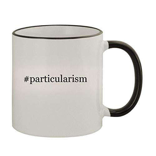 #particularism - 11oz Ceramic Colored Rim & Handle Coffee Mug, Black