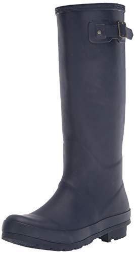 Amazon Essentials Women's Tall Rain Boot, Navy, 6 M US