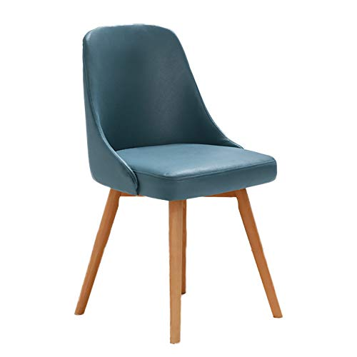 HUAYIN Modern Living Room Chair, Leisure Leather Dining Without Armrests Chairs | Club Lounge Chair with Soft cushion and Backrest for Home Accent Chair,Blue