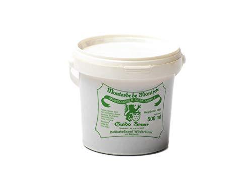 Wildkräuter mit Bärlauch Senf - Monschauer Senf - Moutarde de Montjoie - 500 ml im Nachfülleimer
