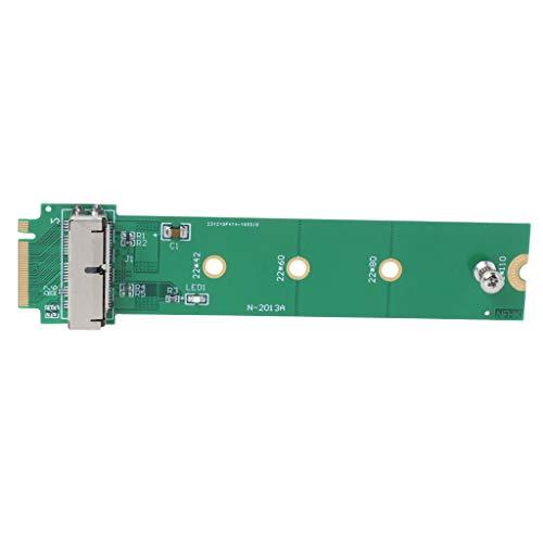 Morningmo para MacBook Air Pro 12+16 pines SSD a M.2 Key M (NGFF) PCI-e Adaptador Convertidor Tarjeta para PC Accesorios Computadora y Oficina Conexión y Conectores Banana Cable Conector