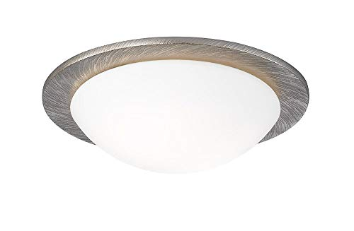SHINE 20072 A++ to E, Deckenleuchte, Aluminium, 40 W, E27, Champagner Goldfarbig, 38 x 38 x 11,5 cm