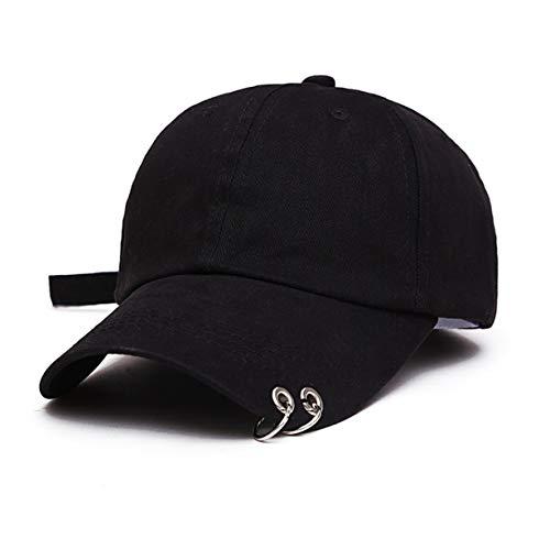 Kpop Hat Ring Baseball - Suga,Snapback Baseball Cap with Iron Rings (Style 1)