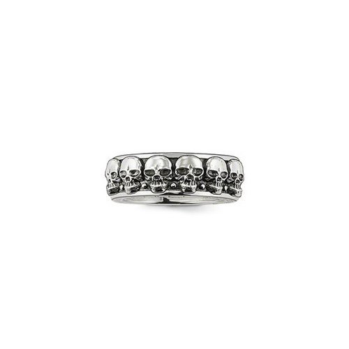"Thomas Sabo Herren-Ring Rebel at heart ""Totenkopf\"" 925 Silber Gr. 64 (20.4) - TR1878-001-12-64"