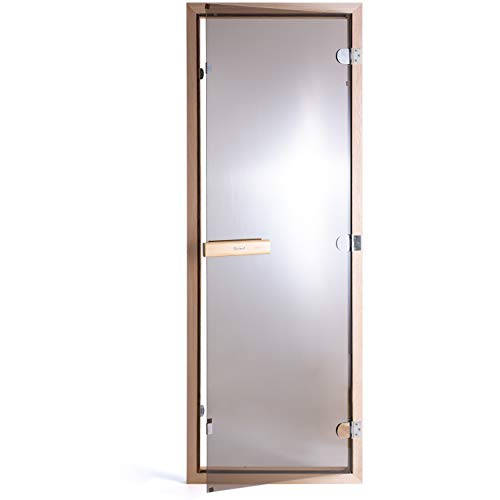 Suleno® Saunatür Bronzeglas 70 x 190 cm inkl. Zarge Sauna Tür bronziert Saunabau