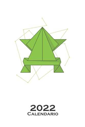 Técnica de plegado de formas de papel de origami Calendario 2022: Calendario anual para Abanicos japoneses de papel plegado