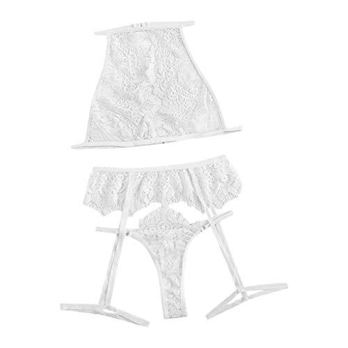 New Women Sexy Lace Bra Hollow Thong Garter Sleepwear Black Lingerie Set S-XL,Home Wear Sexy Underwear Comfortable Underwear