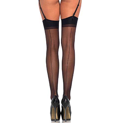 Leg Avenue Women's Sheer Backseam Stockings, Black, One Size