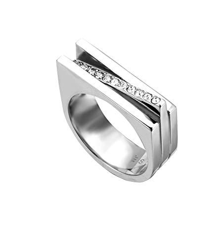 Esprit ESRG00182118 Damen Ring Luna Edelstahl Silber Weiß Zirkonia 18,1 mm Größe 57