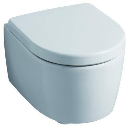 Geberit WC Sitz iCon (Deckel überlappend, Befestigung von oben, Farbe weiß, Duroplast, ohne Absenkautomatik) 574120000