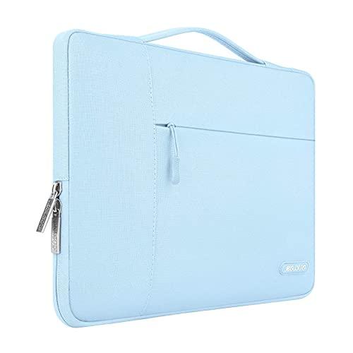 MOSISO Laptop Aktentasche Kompatibel mit 13-13,3 Zoll MacBook Air, MacBook Pro, Notebook Computer, Polyester Multifunktion Sleeve Hülle, Airy Blau