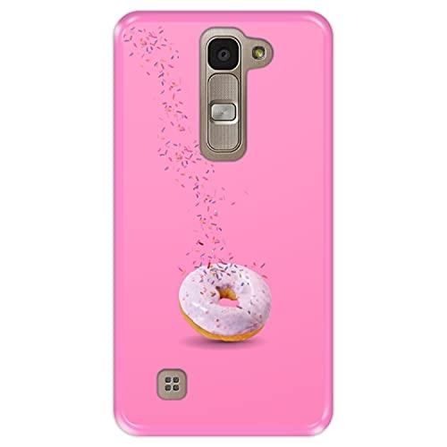 Hapdey Funda Rosa para [ LG G4 Mini - G4c - Magna ] diseño [ Donut, Sabor a Fresa ] Carcasa Silicona Flexible TPU