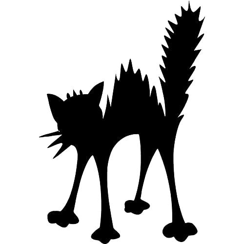 Nuevo Etiqueta de la Ventana del Coche de Gato eléctrico sorprendido Etiqueta de Vinilo Divertido Animal JDM Coche Portátil Bin Frigorífico iPad Barco Moto Bumper Wall9x13cm