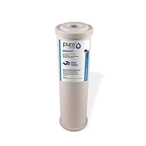 PureOne Kerabakt Keramikfilter - Filter-kartusche Wasserfilter 10 Zoll. Varianten 0.3µ oder 0.9µ. Gegen viele Keime, Sporen, Trinkwasserfilter