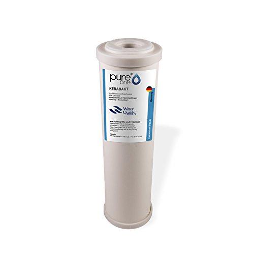PureOne Kerabakt Keramikfilter - Filter-kartusche Wasserfilter 10 Zoll. Varianten 0.3µ oder 0.9µ. Anti-Bakterien und Keimfreies klares Wasser, gegen viele Keime, Sporen, Viren Trinkwasserfilter