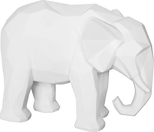 Present Time - Statue éléphant Blanc Origami