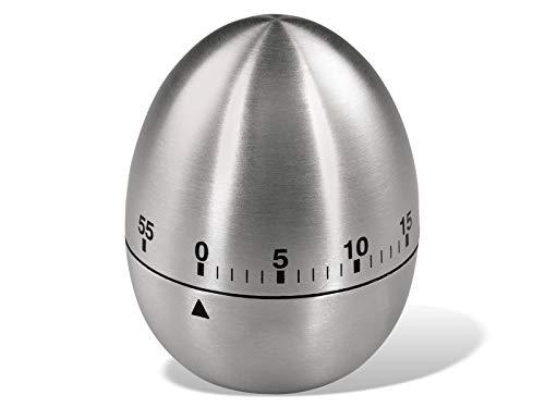 Xavax analoge kookwekker met timerfunctie, eierwekker, roestvrij staal, zilver
