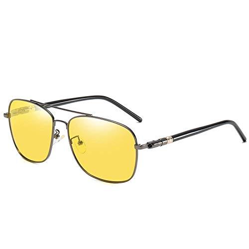 HPPSLT Gafas de Sol Polarizadas Clásico Retro para UV400 Protection, Gafas de Sol cuadradas de Moda Gafas de Sol con protección UV-5 5